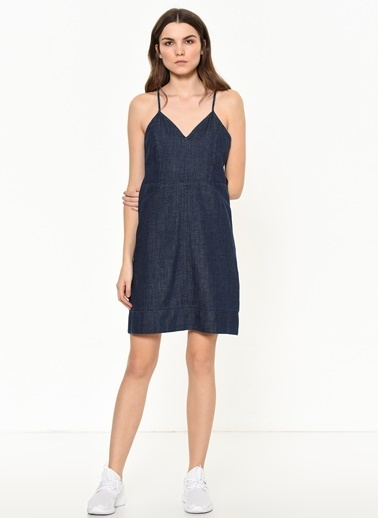 Calvin Klein Elbise Lacivert